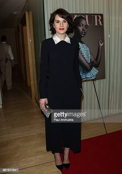 Actress Michelle Dockery attends the DuJour Magazine party celebrating the Great Performances Issue at Herringbone Mondrian LA on January 11 2014 in...