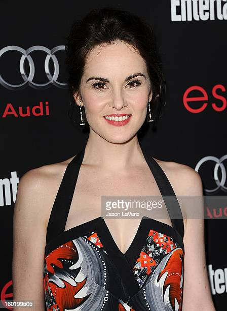 Actress Michelle Dockery attends the Entertainment Weekly Screen Actors Guild Awards preparty at Chateau Marmont on January 26 2013 in Los Angeles...