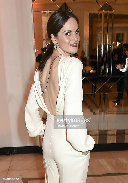 Actress Michelle Dockery attends the Harper's Bazaar Women of the Year Awards 2015 at Claridges Hotel on November 3 2015 in London England