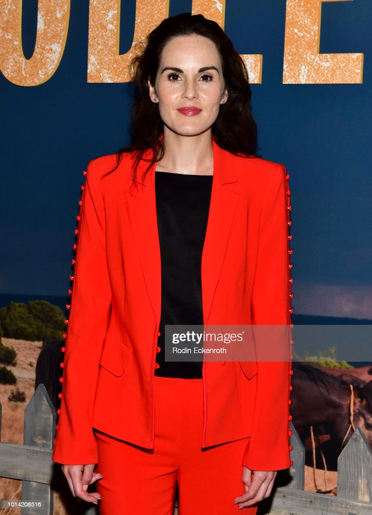 Actress Michelle Dockery attends the Netflix 12 Emmy nominations celebration for 'Godless' at DGA Theater on August 9, 2018 in Los Angeles, California.
