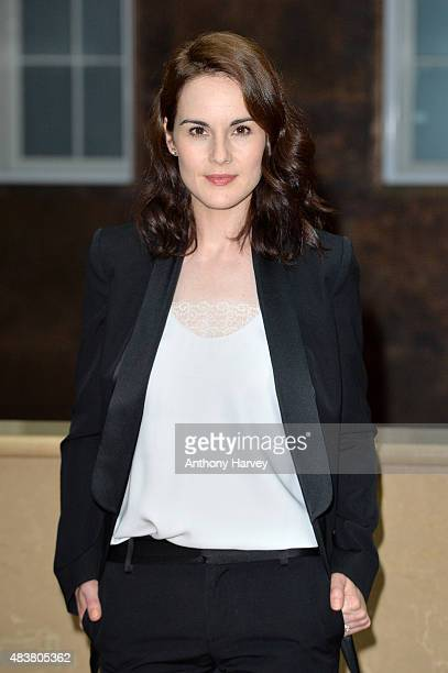 Actress Michelle Dockery attends the press launch of Downton Abbey at May Fair Hotel on August 13 2015 in London England