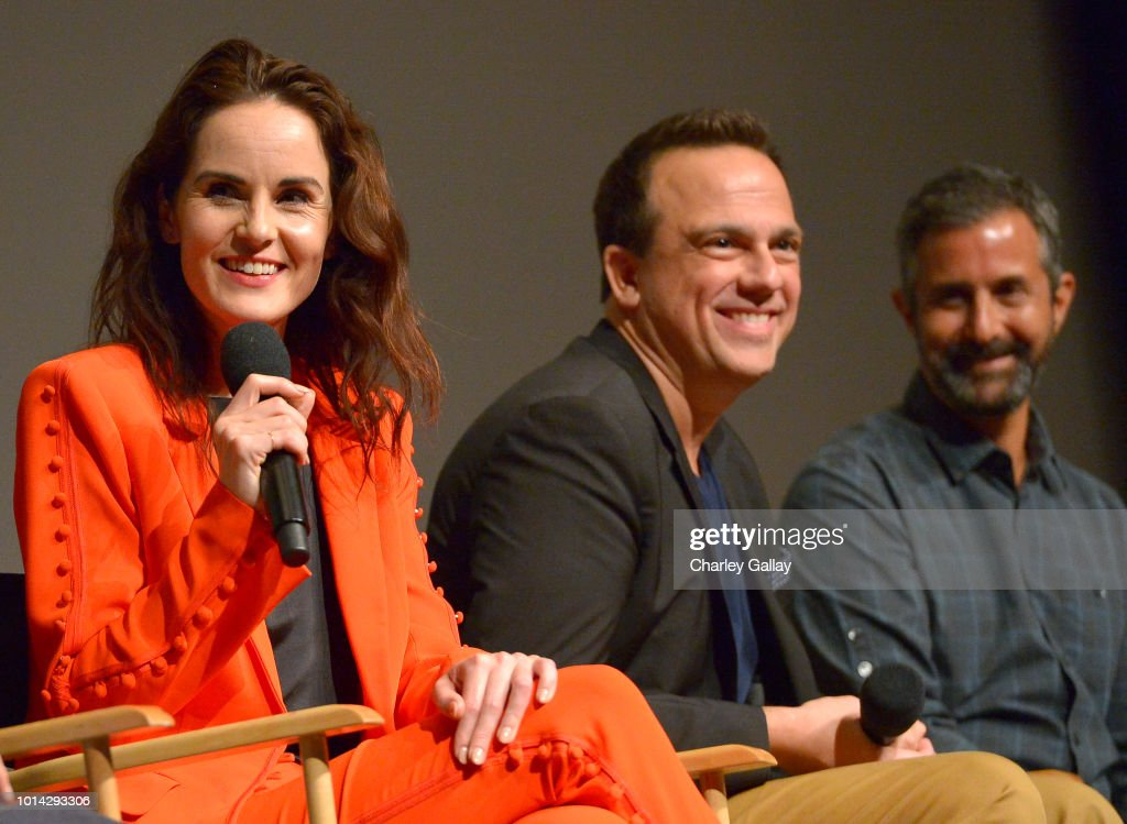 Actress Michelle Dockery, Composer Carlos Rafael Rivera and Cinematographer Steven Meizler speak onstage Netflix Celebrates 12 Emmy Nominations For 'Godless' at DGA Theater on August 9, 2018 in Los Angeles, California.