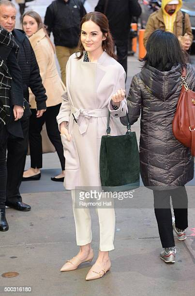Actress Michelle Dockery from Downton Abbey is seen on 'Good Morning America' on December 7 2015 in New York City