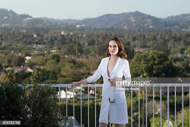 Actress Michelle Dockery is photographed for Los Angeles Times on July 31 2016 in Los Angeles California