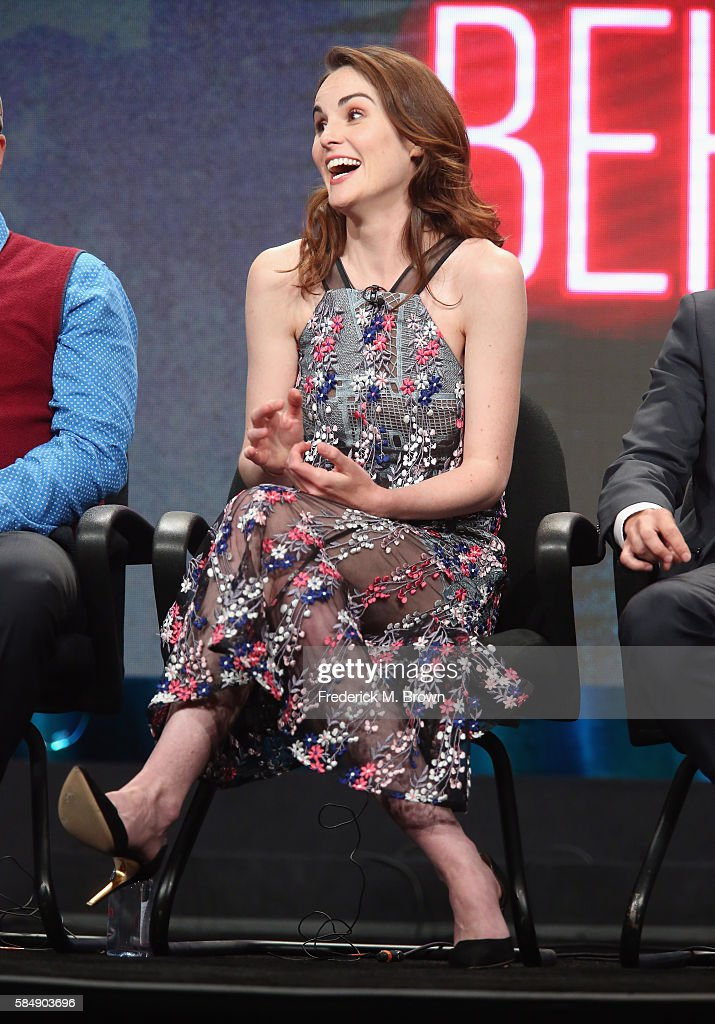 Actress Michelle Dockery speak onstage during the 'TBS/Good Behavior' panel discussion at the Turner portion of the 2016 Television Critics Association Summer Tour at at The Beverly Hilton Hotel on July 31, 2016 in Beverly Hills, California.