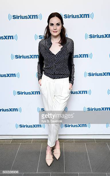 Actress Michelle Dockery visits the SiriusXM Studios on December 7 2015 in New York City
