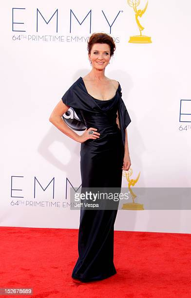 Actress Michelle Fairley arrives at the 64th Primetime Emmy Awards at Nokia Theatre L.A. Live on September 23, 2012 in Los Angeles, California.