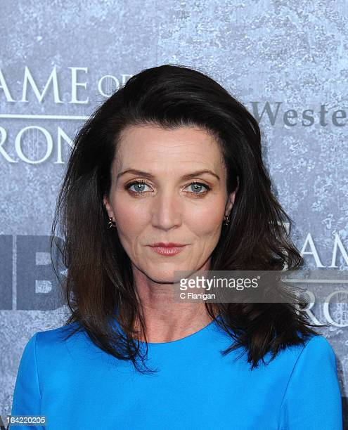 Actress Michelle Fairley arrives at the San Francisco Premiere For HBO's Game Of Thrones Season 3 at Palace Of Fine Arts Theater on March 20 2013 in...