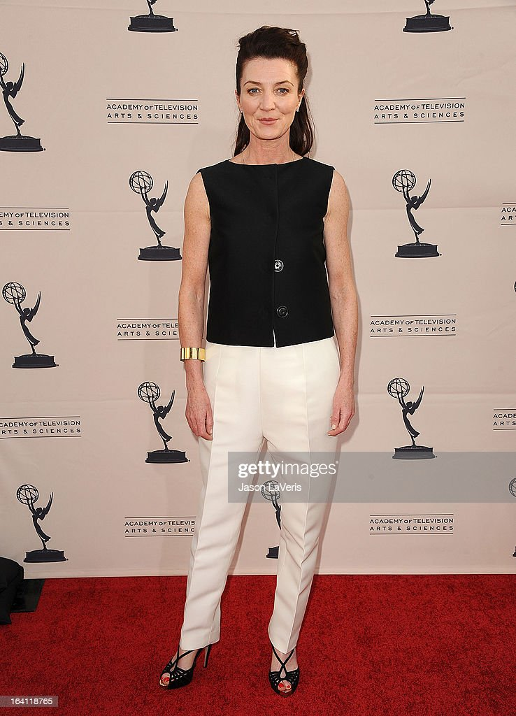 Actress Michelle Fairley attends an evening with 'Game Of Thrones' at TCL Chinese Theatre on March 19, 2013 in Hollywood, California.