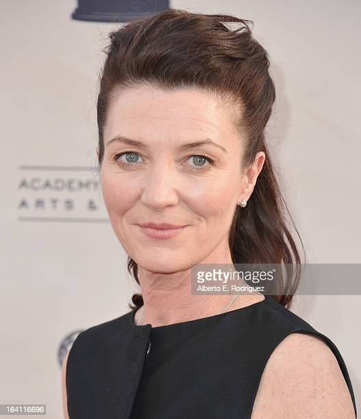 Actress Michelle Fairley attends The Academy of Television Arts Sciences' Presents An Evening With Game of Thrones at TCL Chinese Theatre on March 19...