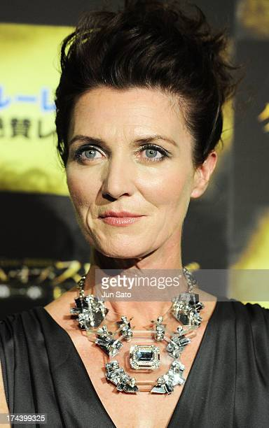 Actress Michelle Fairley attends the 'Game of Thrones' stage greeting at Toho Cinemas Roppongi Hills on July 25, 2013 in Tokyo, Japan.