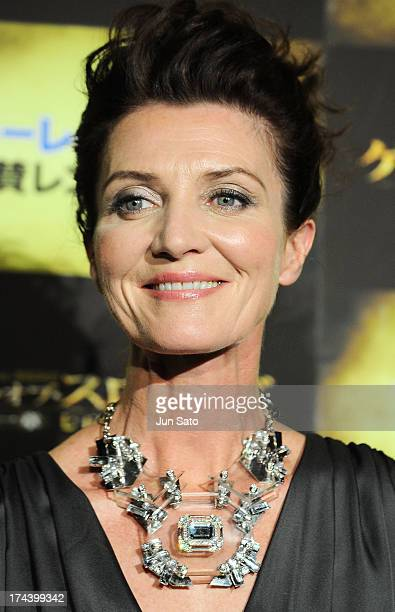 Actress Michelle Fairley attends the 'Game of Thrones' stage greeting at Toho Cinemas Roppongi Hills on July 25 2013 in Tokyo Japan
