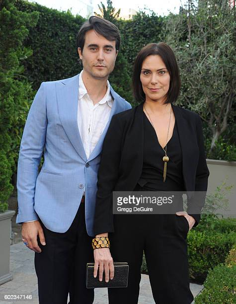 Actress Michelle Forbes and Oliver Edwin arrive at Mercy For Animals Hidden Heroes Gala 2016 at Vibiana on September 10, 2016 in Los Angeles,...