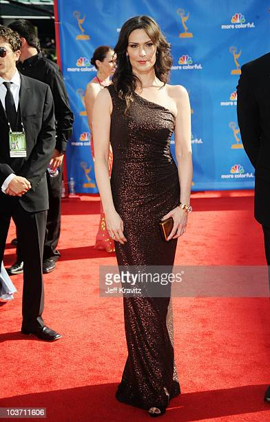 Actress Michelle Forbes arrives at the 62nd Annual Primetime Emmy Awards held at the Nokia Theatre LA Live on August 29 2010 in Los Angeles California