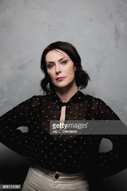 Actress Michelle Forbes from the film Columbus is photographed at the 2017 Sundance Film Festival for Los Angeles Times on January 22 2017 in Park...