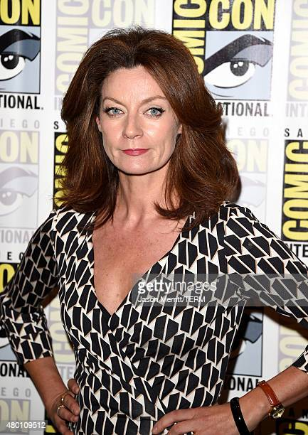 Actress Michelle Gomez attends the BBC America Doctor Who photo call during ComicCon International 2015 at the Hilton Bayfront on July 9 2015 in San...