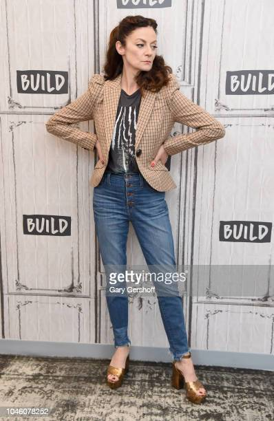 Actress Michelle Gomez visit Build Brunch to discuss the TV series 'Chilling Adventures of Sabrina' at Build Studio on October 5 2018 in New York City
