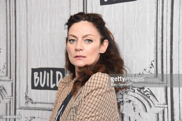 Actress Michelle Gomez visits Build Brunch to discuss the TV series 'Chilling Adventures of Sabrina' at Build Studio on October 5 2018 in New York...