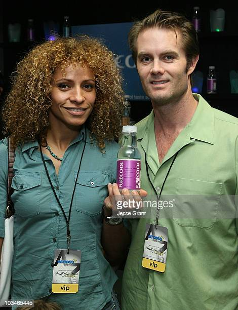 Actress Michelle Hurd and Garret Dillahunt at the Access Hollywood Stuff You Must Lounge Presented by On 3 Productions at Sofitel Hotel on January 12...