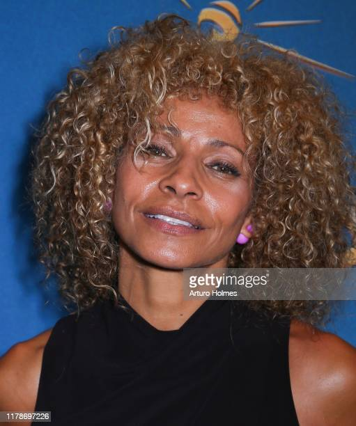 Actress Michelle Hurd attends Freestyle Love Supreme Opening Night event at Booth Theatre on October 02 2019 in New York City