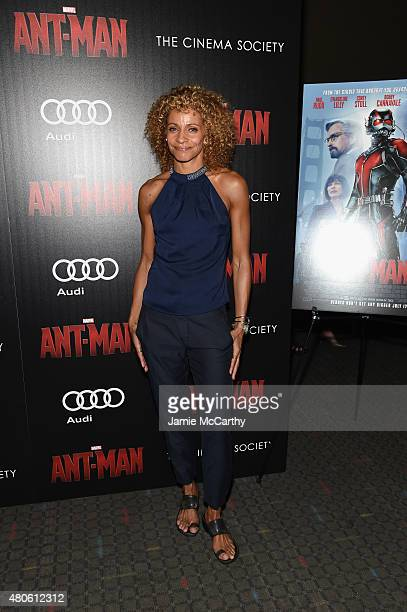 Actress Michelle Hurd attends Marvel's screening of AntMan hosted by The Cinema Society and Audi at SVA Theater on July 13 2015 in New York City