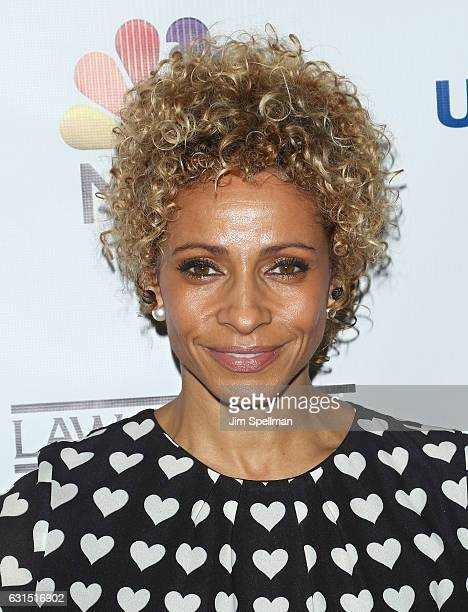 Actress Michelle Hurd attends the TV Guide celebrates Mariska Hargitay at Gansevoort Park Avenue on January 11 2017 in New York City