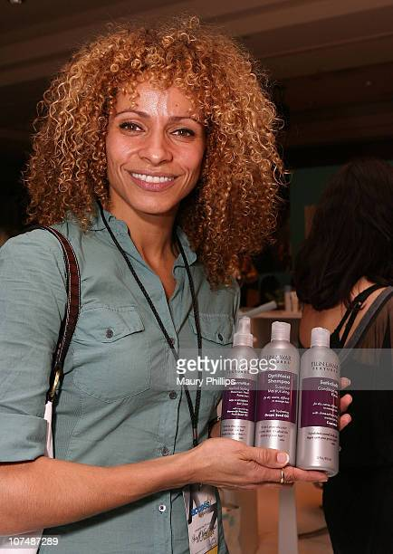 Actress Michelle Hurd with CVS at the Access Hollywood Stuff You Must Lounge Presented by On 3 Productions at Sofitel Hotel on January 12 2008 in...