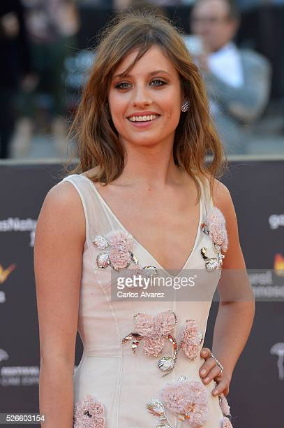 Actress Michelle Jenner attends Nuestros Amantes premiere at the Cervantes Teather during the 19th Malaga Film Festival on April 30 2016 in Malaga...