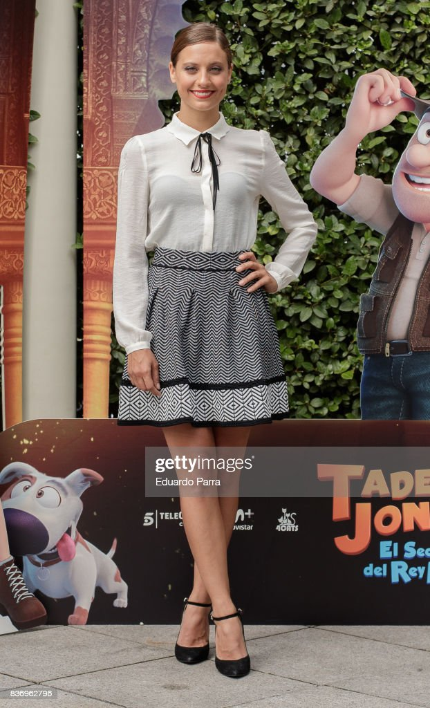 Actress Michelle Jenner attends the 'Tadeo Jones 2. El secreto del Rey Midas' photocall at Ritz hotel on August 22, 2017 in Madrid, Spain.