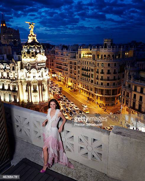 Actress Michelle Jenner is photographed for Conde Nast Traveler - Spain on March 2, 2013 on the roof of Círculo de Bellas Artes in Madrid, Spain....