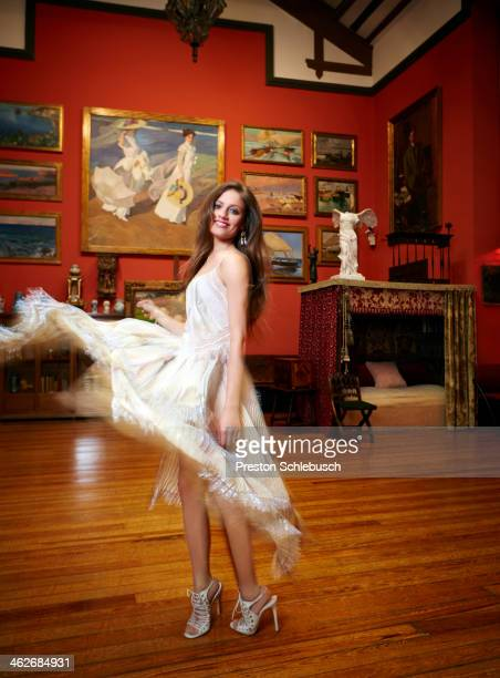 Actress Michelle Jenner is photographed for Conde Nast Traveler - Spain on March 2, 2013 in Museo Sorolla in Madrid, Spain. PUBLISHED IMAGE. .