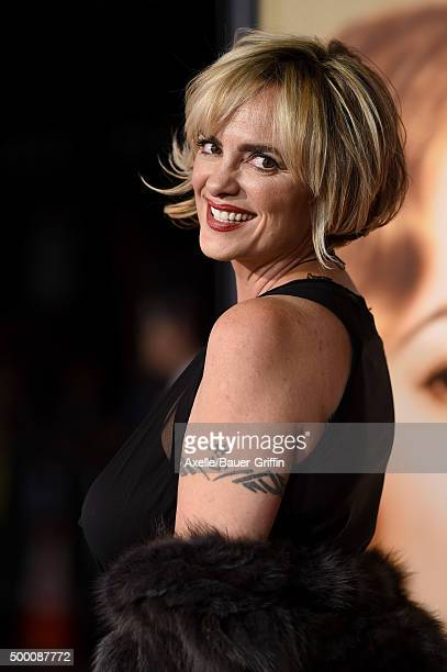 Actress Michelle Johnson arrives at the premiere of Focus Features' 'The Danish Girl' at Westwood Village Theatre on November 21 2015 in Westwood...