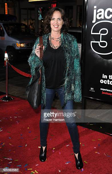 Actress Michelle Johnson arrives at the premiere of Paramount Pictures and MTV Films' Jackass 3D at the Mann's Chinese Theater on October 13 2010 in...