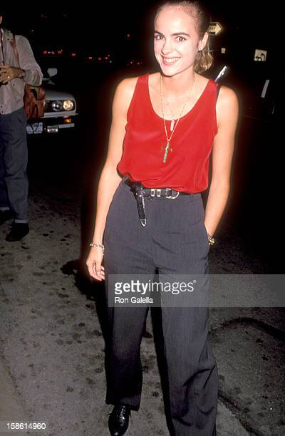 Actress Michelle Johnson attends the After Dark My Sweet West Hollywood Premiere on August 21 1990 at DGA Theatre in West Hollywood California