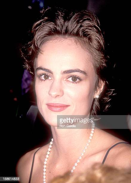 Actress Michelle Johnson attends the Doc Hollywood Beverly Hills Premiere on July 31 1991 at Academy Theatre in Beverly Hills California