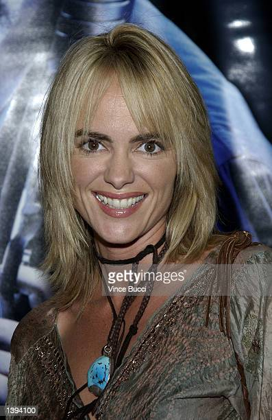 Actress Michelle Johnson attends the film premiere of Ballistic Ecks Vs Sever on September 18 2002 at the Cinerama Dome in Hollywood California