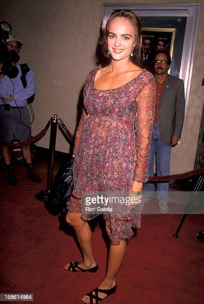 Actress Michelle Johnson attends the 'Goodfellas' Westwood Premiere on September 17 1990 at Mann Bruin Theatre in Westwood California