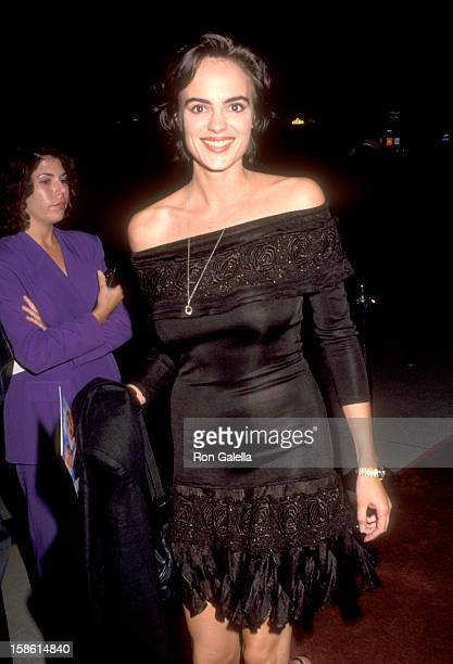Actress Michelle Johnson attends the HouseSitter Beverly Hills Premiere on June 9 1992 at Academy Theatre in Beverly Hills California