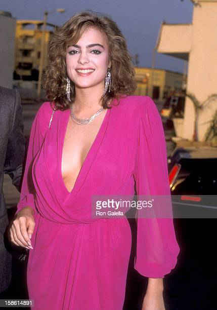 Actress Michelle Johnson attends the Party to Celebrate Joan Collin's Book 'Past Imperfect' on April 8 1984 at Ma Maison Restaurant in West Hollywood...