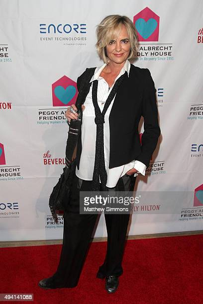 Actress Michelle Johnson attends the Peggy Albrecht Friendly House Los Angeles 26th Annual Awards Luncheon at The Beverly Hilton Hotel on October 24...