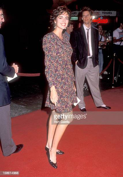 Actress Michelle Johnson attends the Sibling Rivalry Hollywood Premiere on October 24 1990 at Mann's Chinese Theatre in Hollywood California