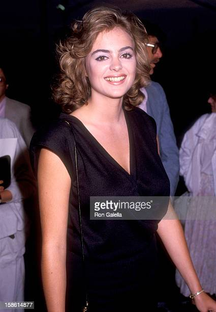 Actress Michelle Johnson attends the Streets of Fire Beverly Hills Premiere on May 29 1984 at Academy Theatre in Beverly Hills California