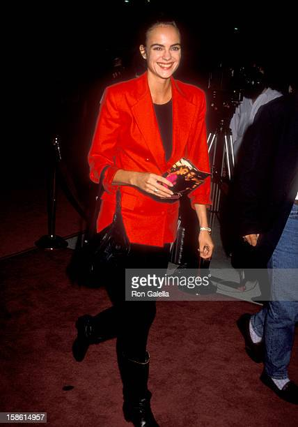 Actress Michelle Johnson attends the Wild at Heart Universal City Premiere on August 13 1990 at Cineplex Odeon Universal City Cinemas in Universal...