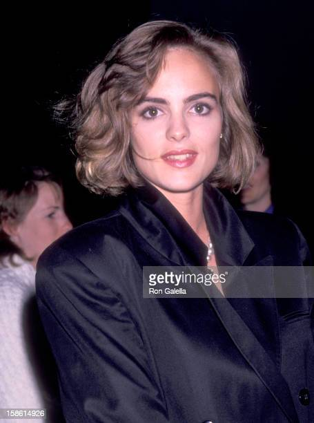 Actress Michelle Johnson attends the Winter People Century City Premiere on April 13 1989 at Cineplex Odeon Century Plaza Cinemas in Century City...