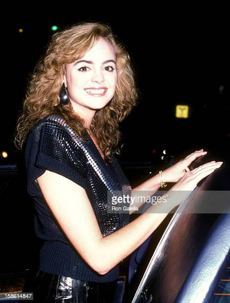 Actress Michelle Johnson on March 26 1984 dines at Spago in West Hollywood California