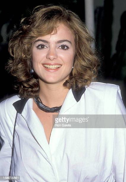 Actress Michelle Johnson on May 26 1984 dines at Spago in West Hollywood California
