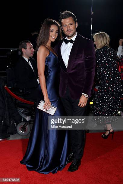 Actress Michelle Keegan and husband Mark Wright attend the Pride Of Britain Awards at The Grosvenor House Hotel on October 31 2016 in London England