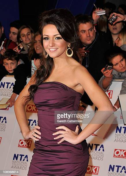 Actress Michelle Keegan attends the National Television Awards at the O2 Arena on January 26 2011 in London England