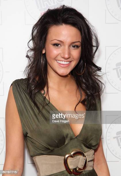 Actress Michelle Keegan attends the Television And Radio Industries Club Awards 2008 held at the Great Hall Grosvenor House Hotel on March 11 2008 in...