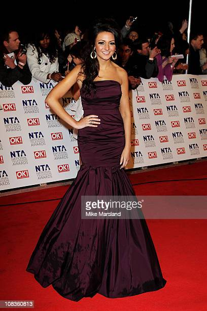 Actress Michelle Keegan attends the The National Television Awards at the O2 Arena on January 26 2011 in London England